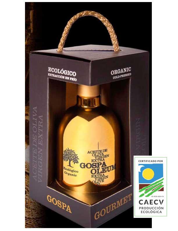 Aceite de oliva virgen extra orgánico botella ORO 500ml.  ARBEQUINA ECO