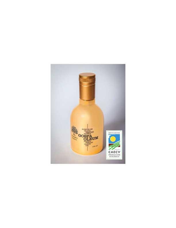 12 botellas de 250 ml de aceite de oliva virgen extra orgánico