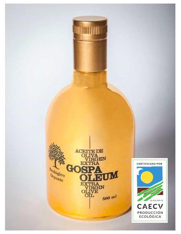 Caja 6 unidades de 500ml aceite de oliva virgen extra orgánico con estuche